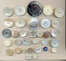 """Large Lot Carved Pearl Buttons - Shapes, incl. 1 15/16"""""""