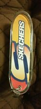 Skechers Small Plastic Skateboard Yellow Orange Blue Keychain