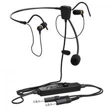 FARO AIR In-ear aviation pilot headset w/ General Aviation intercom plugs