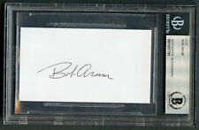 Bob Arum signed autograph 2x3.5 cut Founder and CEO of Top Rank BAS Slabbed