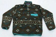 Mens PATAGONIA Aztec Indian Tribal Southwestern Snap T Fleece Sweater Medium