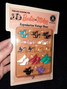 Barbie and Midge Doll Reproduction Vintage Shoes NRFP NEW Mattel 2004 In Package