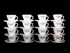 16 Fire King BONNIE BELL BLUE FLOWER Cup and Saucer sets - 32 pieces