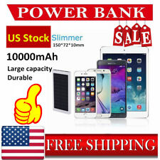 100000mAh Portable Ultrathin Solar Power Bank Battery Charger android iphone BT