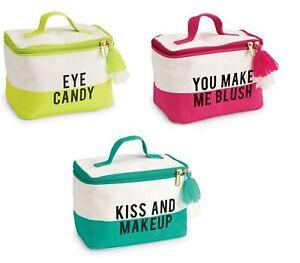 Mud Pie E0 Women's Color Block Train Case 4.7x7.5x4.2in 86200005 Choose Design