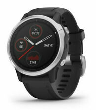 Garmin Fenix 6S 42mm Case with Silicone Band GPS Running Watch Black New in Box