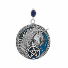 Celtic Unicorn Pentacle .925 Sterling Silver Pendant by Peter Stone