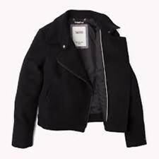 Tommy Hilfiger Women's Genna wool jacket dark grey L