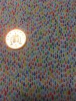 100% Cotton Quilting Craft Fabric Multi Rain Drops 1480 Timeless Treasures