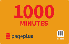 PagePlus  Prepaid $50  1000  Minutes Refill Top-Up Prepaid Card ,PIN / RECHARGE
