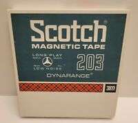 "Scotch 203 Magnetic Reel To Reel Tape 540m x 1800' 7"" Reel EUC"