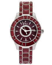 Dior Christal Red Cermamic Quartz Women's Watch CD143111M001