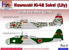 h-model ADHESIVOS 1/48 KAWASAKI ki-48 sokei ( Lily) over new guinea PARTE 2 #