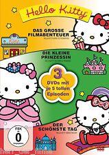 HELLO KITTY (Das große Filmabenteuer, Die kleine Prinzessin...) 3 DVDs NEU+OVP