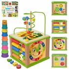 Wooden Kids Baby Activity Cube - Girls Gift Set   1st Birthday Pink Packaging