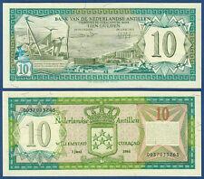 NETHERLANDS ANTILLES  10 Gulden 1984  UNC  P.16 b