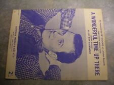 """Vintage sheet music, """"A wonderful time up there"""", Pat Boone."""