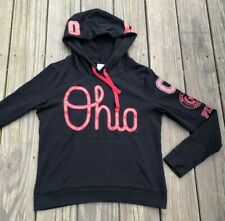 Victoria Secret Pink Ohio Script Ohio State University Hooded Sweatshirt Size M