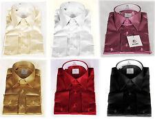*006* HOBI Satin Herrenhemd Hemd - SlimFit, Langarm, Gr. S - M - L - XL - XXL