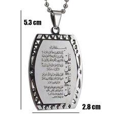 BEST 4 Qul Kul Quran Surah Necklace Islamic Koran Muslim Arabic Protect Djinn
