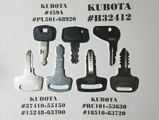 (7) Kubota Key Set, Kubota Heavy Equipment, Tractor Ignition Key Set