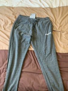 Mens Gymshark Fit Joggers Grey M