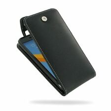 PDair Leather Flip Top Wallet Case Cover for HTC 10l - Black