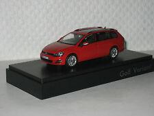 VW Golf VII Variant tornadorot 1:43 VW/Herpa neu &  OVP 5G9.099.300.Y3D