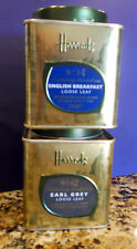Two Harrods Tea Tins  EMPTY  # 14 & #42