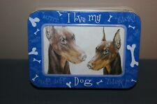 Doberman Pinscher Note Cards Pack with Collectible Tin Picture Frame