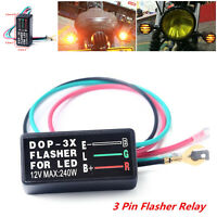 Universal 12V 3 Pin Flasher Blinker Relay Turn Signal LED Light Lamp