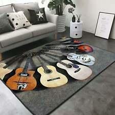Love Guitar Rug - Area Rug Decorative Floor Mat Carpet, Home Decor