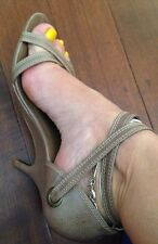 Zu Genuine Leather Made In Brazil  Shoes Heels Size 39 Or 8 As New $139.95