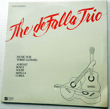 DEFALLA TRIO Music for three Guitars SEALED LP Terry Graves DUSAN BOGDANOViC