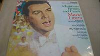 CHRISTMAS HYMNS & CAROLS by MARIO LANZA 33 RPM LP ALBUM CAS-777e RCA CAMDEN
