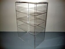 "Acrylic Lucite Countertop Display Case ShowCase Box Cabinet 12"" x 8"" x 19"""