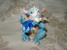"Adorable Franklin Mint Mood Dragon ""Dreamy"" w/ Blue Sarovski Crystal #Cp01457"