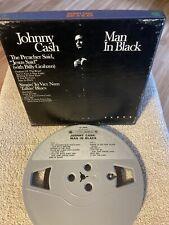 Johnny Cash Man in Black Reel to Reel 3 3/4 IPS 4 Track
