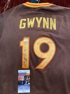 1984 Tony Gwynn  Signed San Diego Padres Jersey JSA  COA HOF Mr Padre