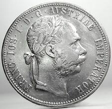 AUSTRIA (Franz Joseph I) FLORIN 1878