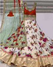 13  INDIAN DESIGNER WOMEN BRIDAL BOLLYWOOD WEDDING LEHENGA CHOLI S-294-RED