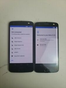 LOT OF TWO! Motorola Moto Z2 Force  - 64GB -  Grey (Unlocked) Smartphones
