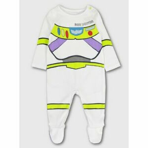 NEW Disney Buzz Lightyear Sleepsuit Babygrow Upto 1 Month 50-56cm FREE DELIVERY
