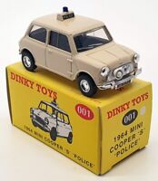 Dinky Toys Matchbox 1/43 Scale 001 - 1964 Mini Cooper S Police - Beige