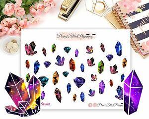 Crystal Galaxy Stickers/Scrapbooking/Journalling/Bujo
