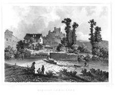 Landsberg - Burg - Schloss - Meiningen, Original-Stahlstich ca. 1870