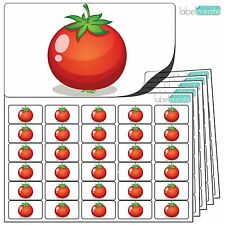 480x Tomato Stickers (38 x 21mm) Self Adhesive Fruit Labels By Label Create