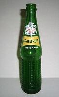 Vintage Canada Dry Grapefruit Beverage 10 oz. Green Glass Soda Bottle