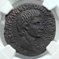 AUGUSTUS Authentic Ancient 7BC Rome Genuine Original Roman Coin NGC i77881