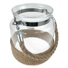 Coastal Rope Glass Jar Candle Holder  Nautical Home Design
